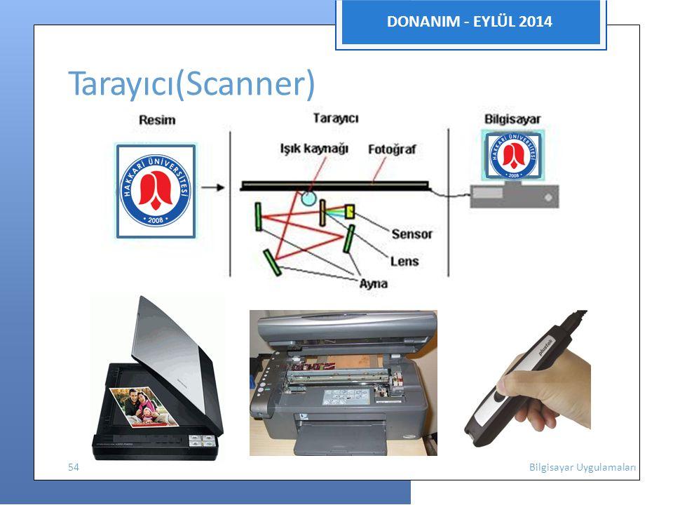 DONANIM - EYLÜL 2014 Tarayıcı(Scanner)