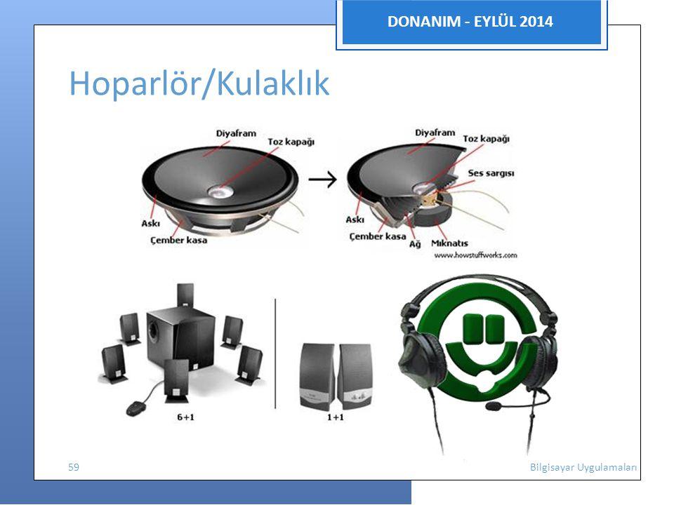 DONANIM - EYLÜL 2014 Hoparlör/Kulaklık.