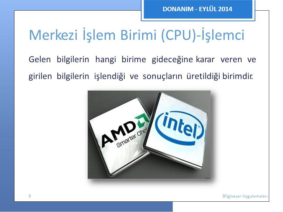 Merkezi İşlem Birimi (CPU)-İşlemci