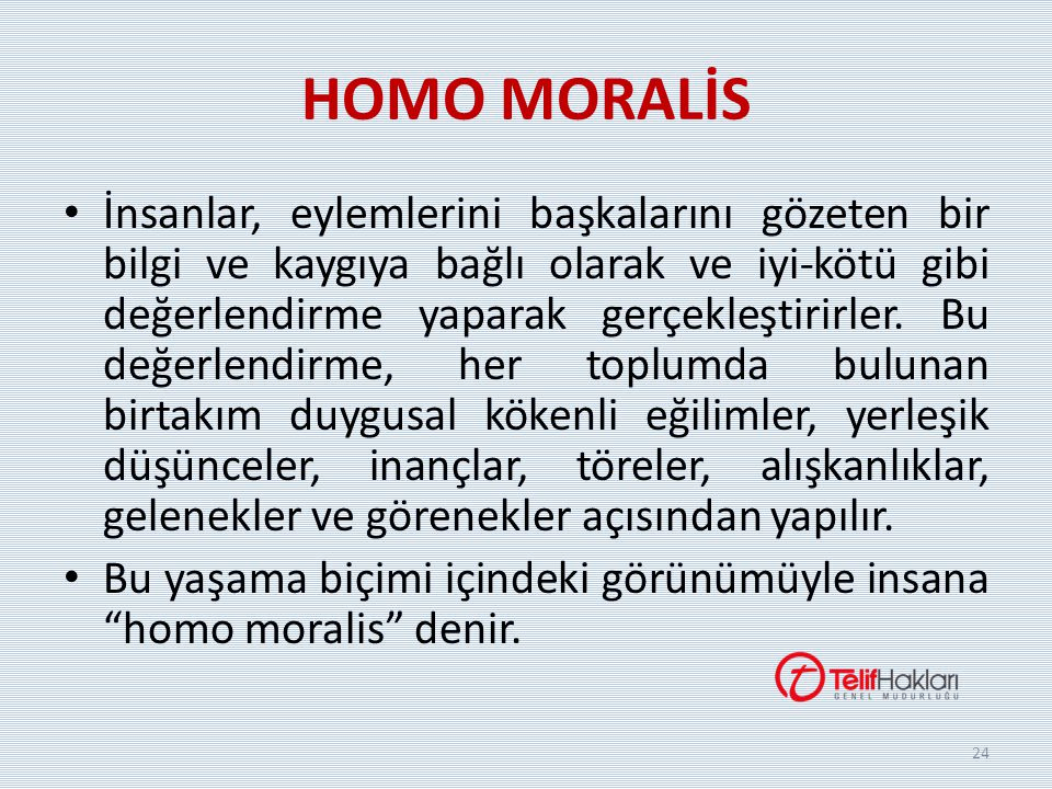 HOMO MORALİS