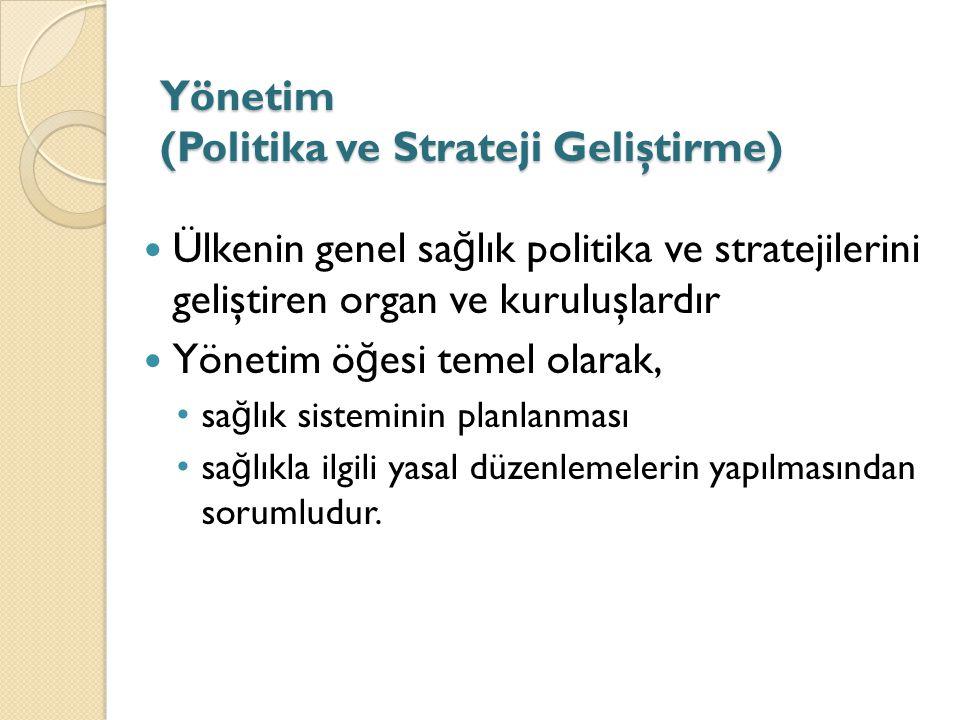 Yönetim (Politika ve Strateji Geliştirme)