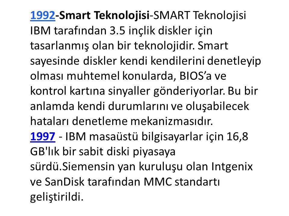 1992-Smart Teknolojisi-SMART Teknolojisi IBM tarafından 3