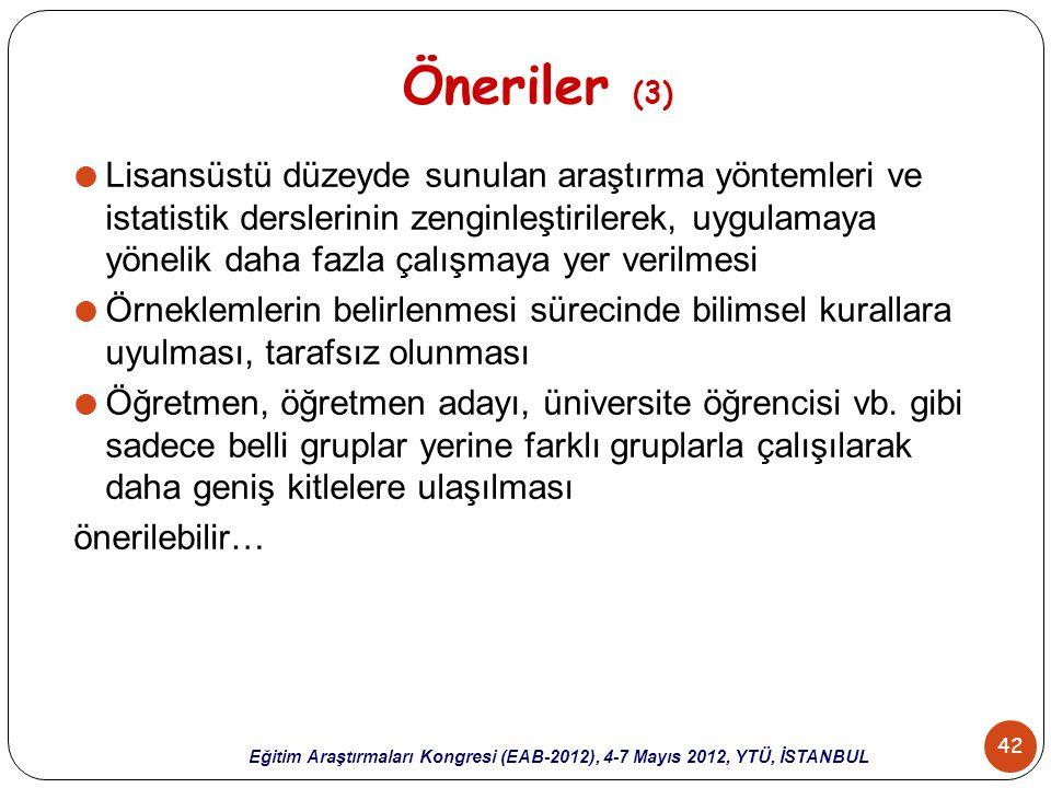 Öneriler (3)