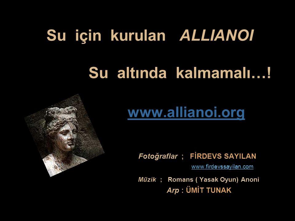 Su için kurulan ALLIANOI Su altında kalmamalı…!