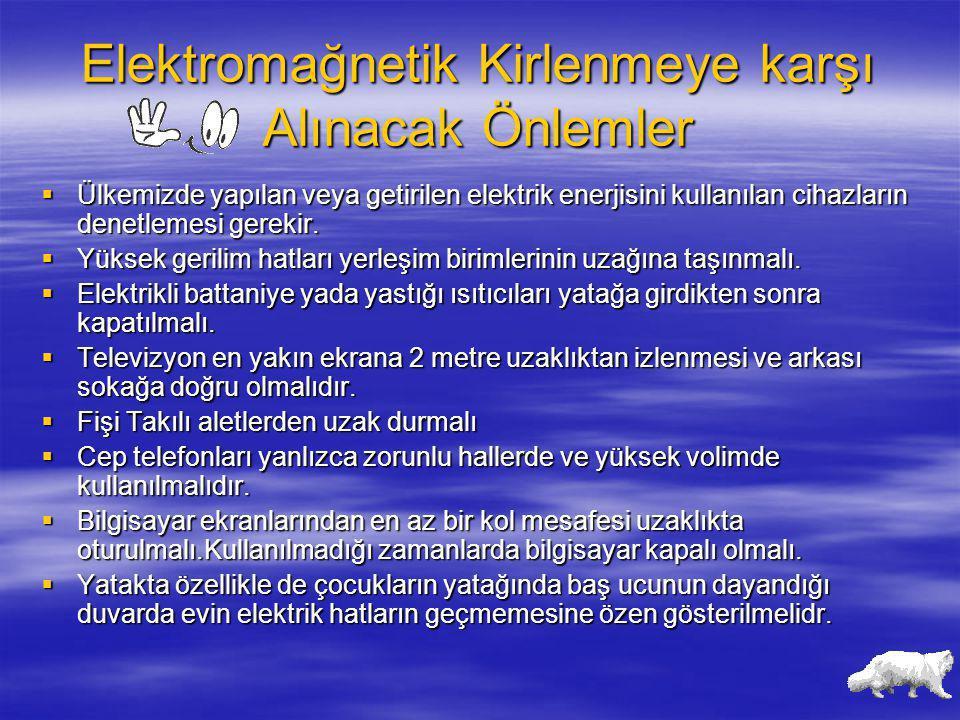 Elektromağnetik Kirlenmeye karşı Alınacak Önlemler