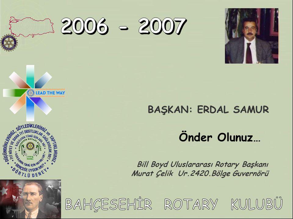 2006 - 2007 Önder Olunuz… BAŞKAN: ERDAL SAMUR