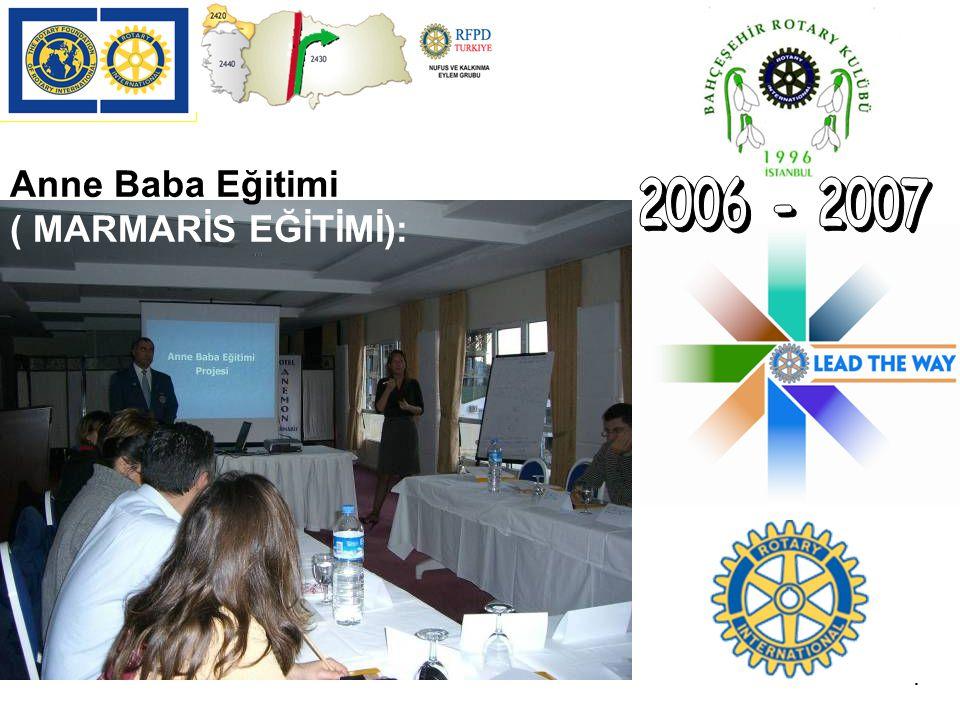 2006 - 2007 Anne Baba Eğitimi ( MARMARİS EĞİTİMİ): .