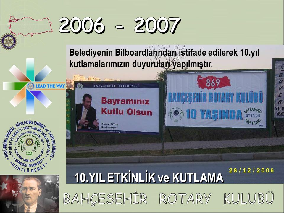 2006 - 2007 10.YIL ETKİNLİK ve KUTLAMA