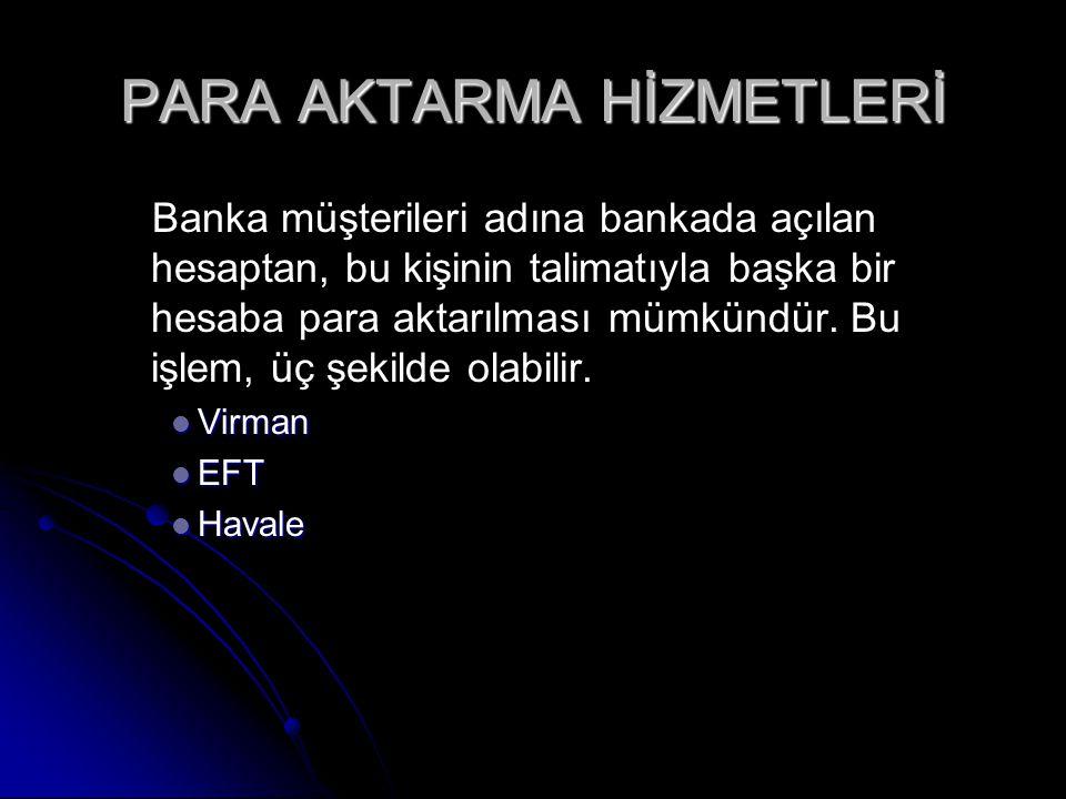 PARA AKTARMA HİZMETLERİ