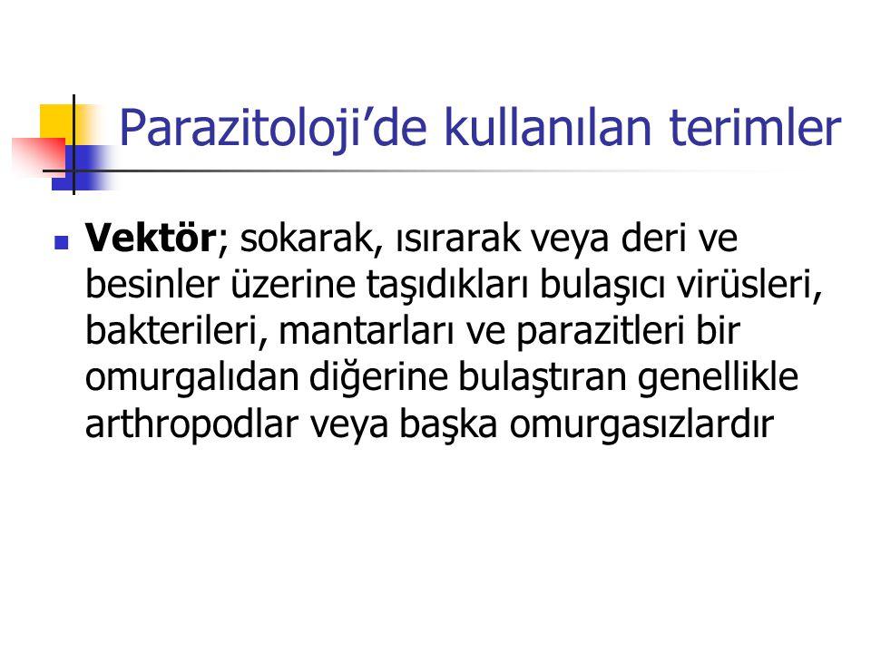Parazitoloji'de kullanılan terimler