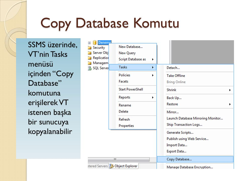 Copy Database Komutu
