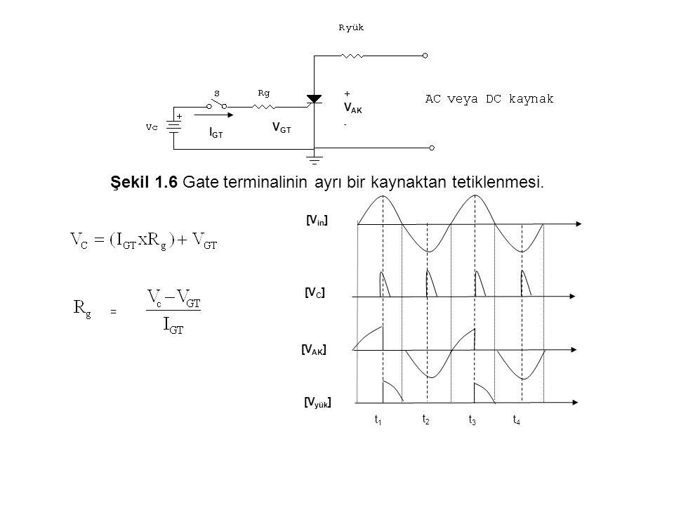Şekil 1.6 Gate terminalinin ayrı bir kaynaktan tetiklenmesi.