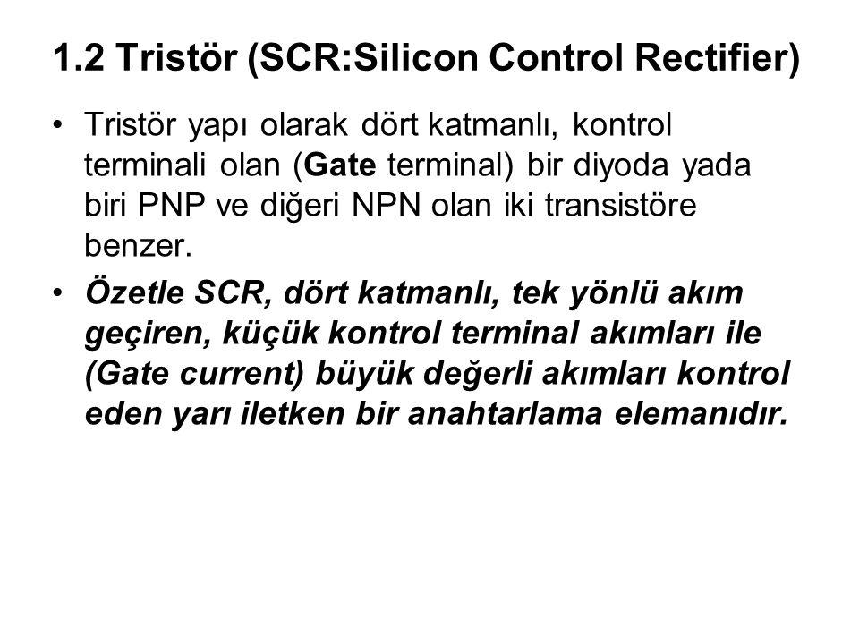 1.2 Tristör (SCR:Silicon Control Rectifier)