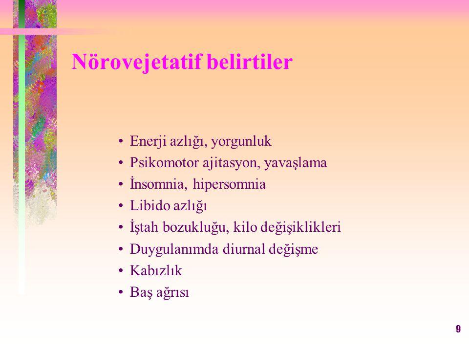 Nörovejetatif belirtiler