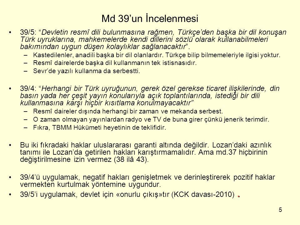 Md 39'un İncelenmesi