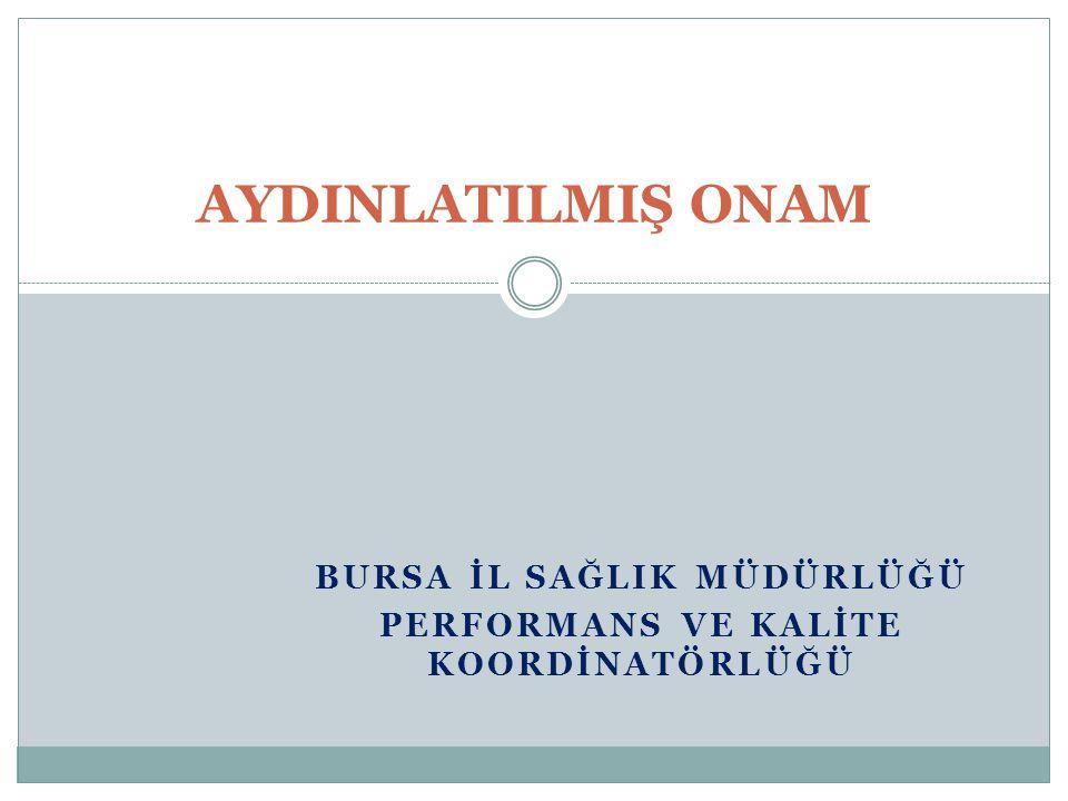Bursa İl SağlIk Müdürlüğü Performans ve Kalİte Koordİnatörlüğü