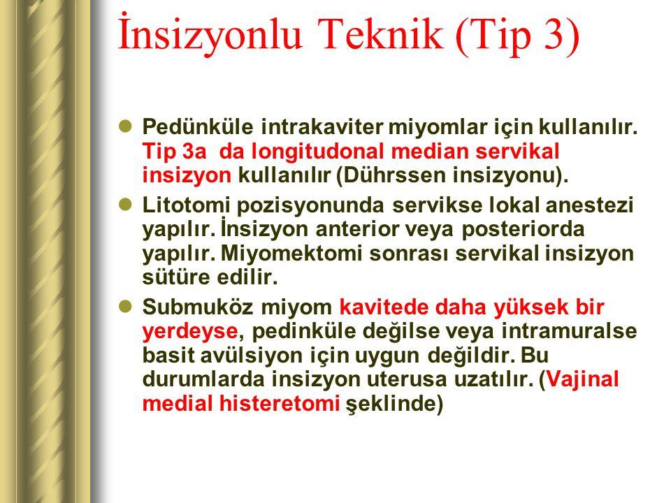 İnsizyonlu Teknik (Tip 3)