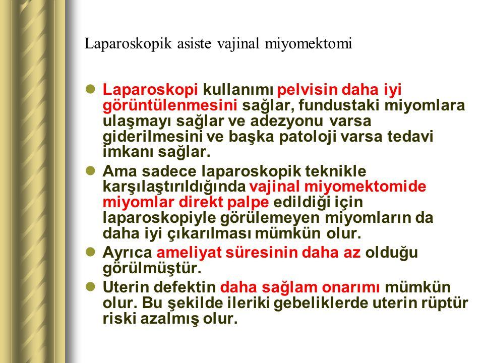 Laparoskopik asiste vajinal miyomektomi
