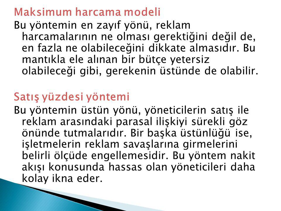 Maksimum harcama modeli