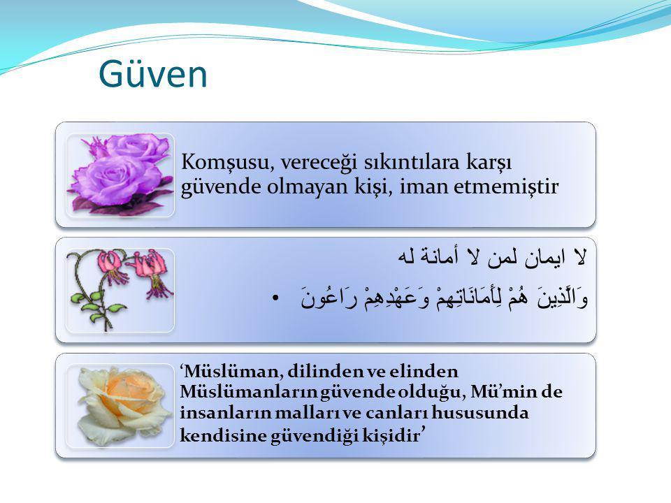 Güven لا ايمان لمن لا أمانة له