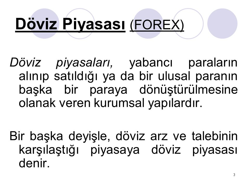 Döviz Piyasası (FOREX)
