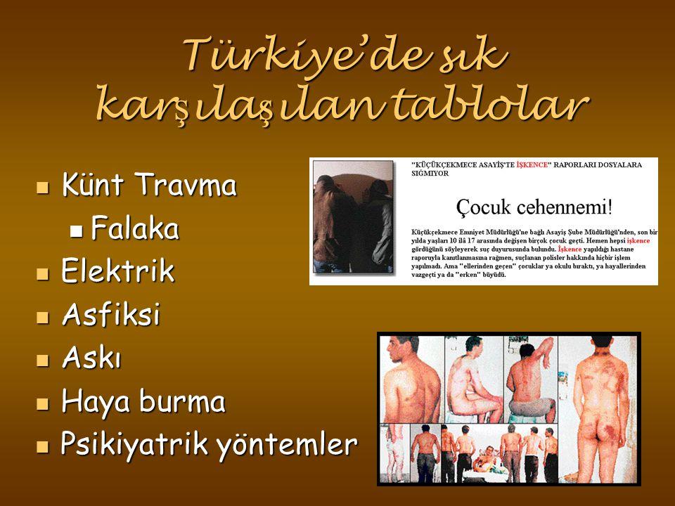 Türkiye'de sık karşılaşılan tablolar