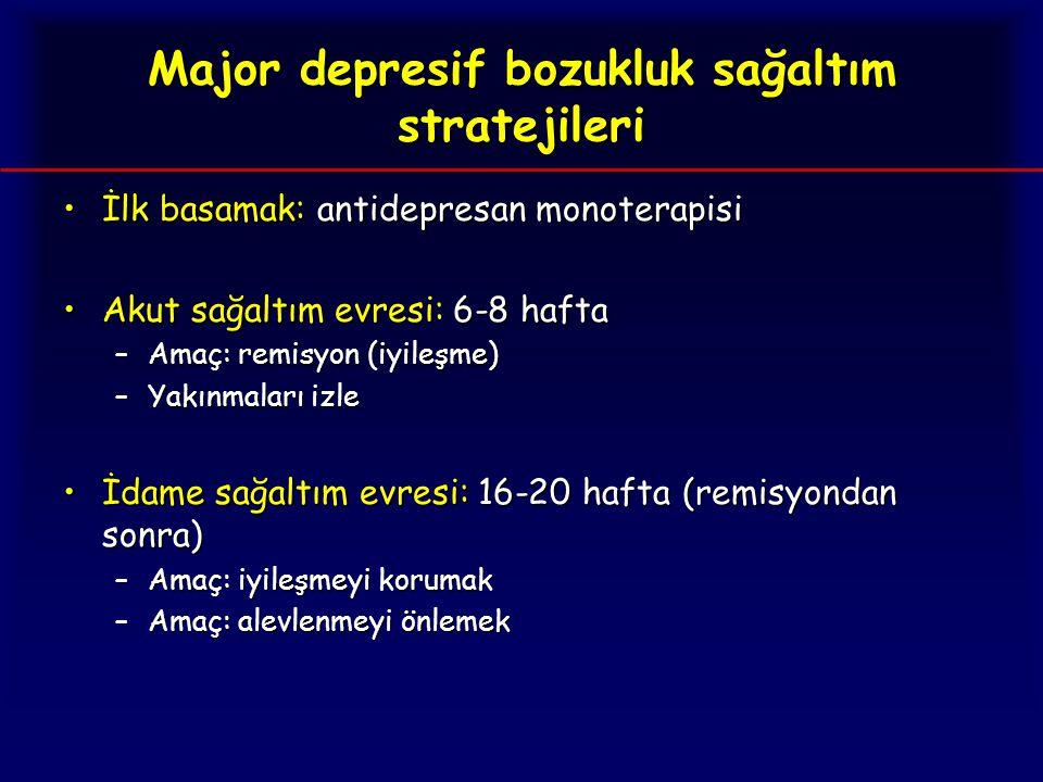 Major depresif bozukluk sağaltım stratejileri