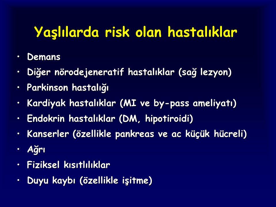 Yaşlılarda risk olan hastalıklar