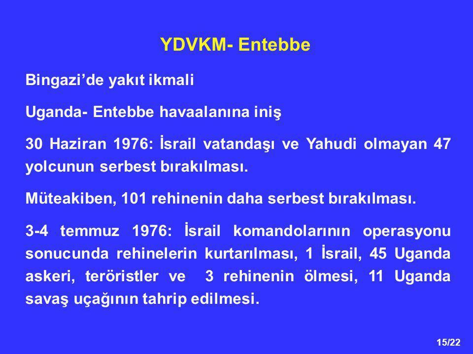 YDVKM- Entebbe Bingazi'de yakıt ikmali