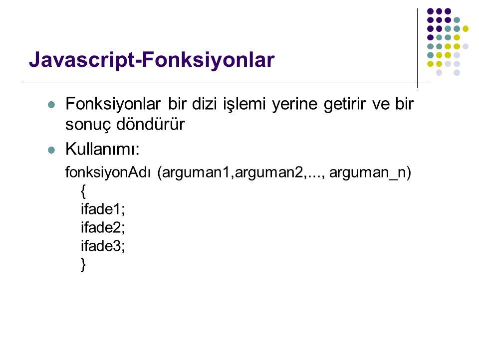Javascript-Fonksiyonlar