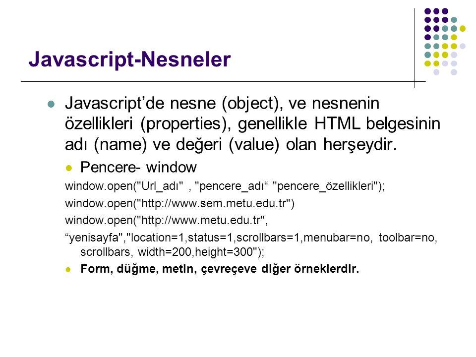 Javascript-Nesneler