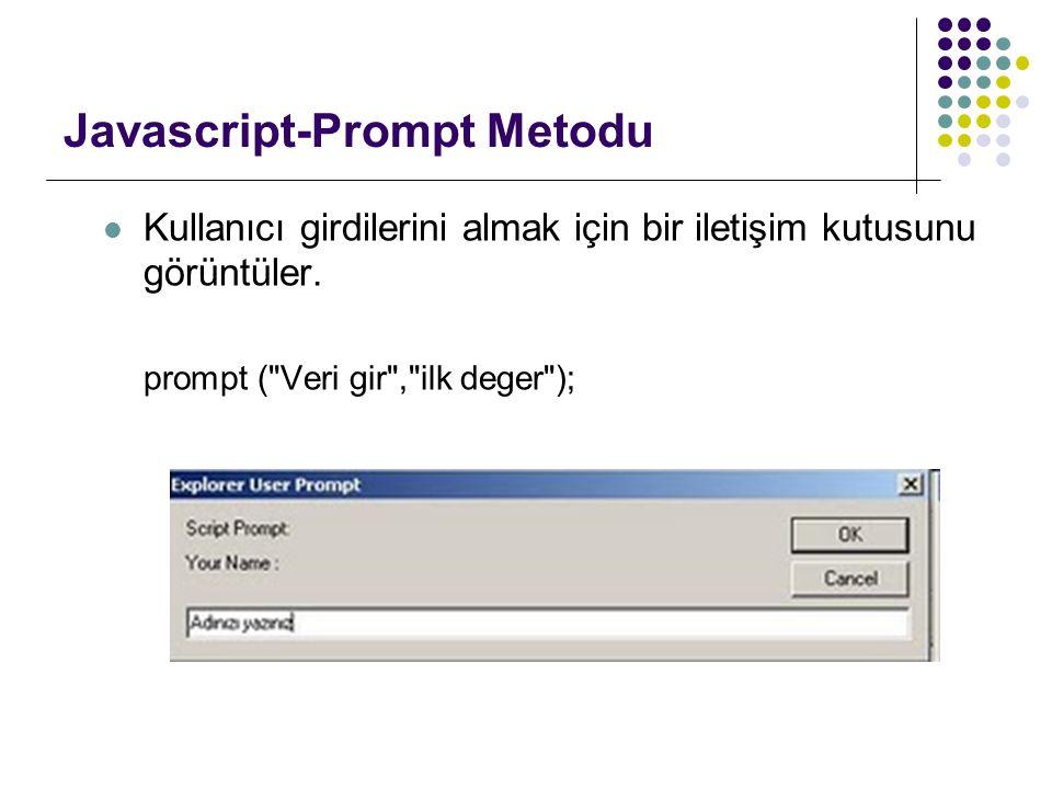 Javascript-Prompt Metodu