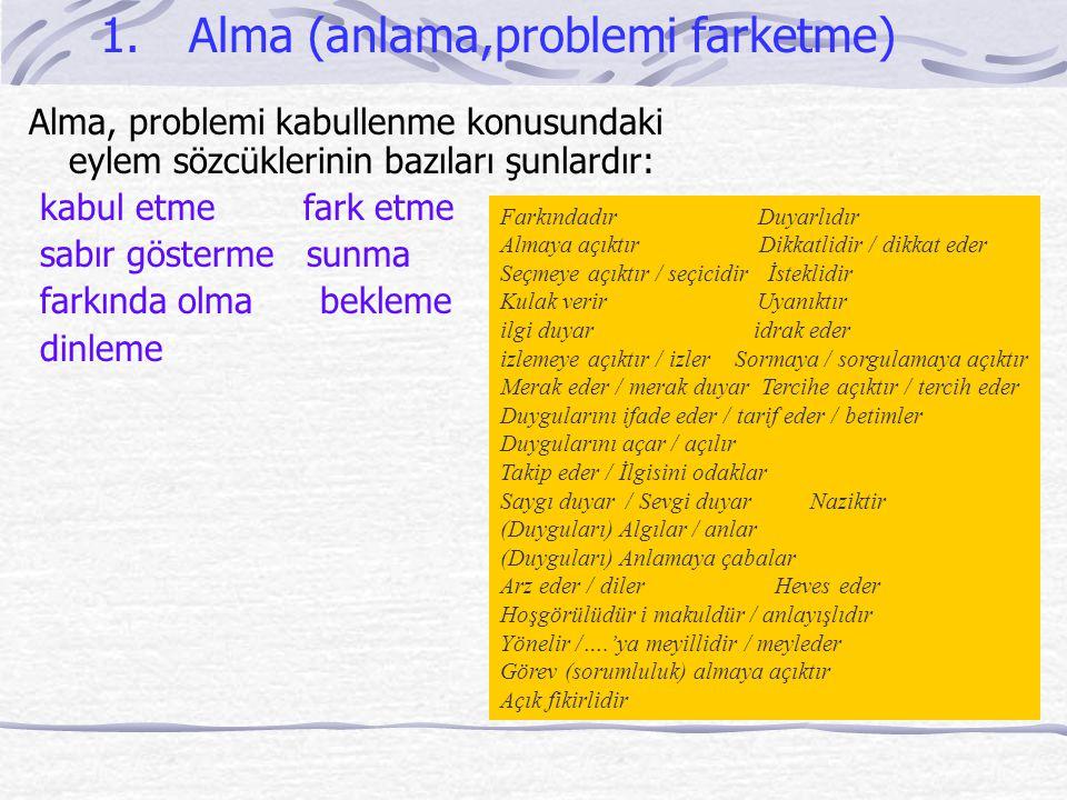 Alma (anlama,problemi farketme)