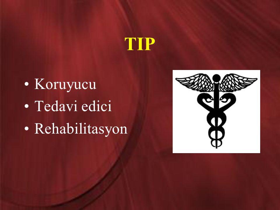 TIP Koruyucu Tedavi edici Rehabilitasyon
