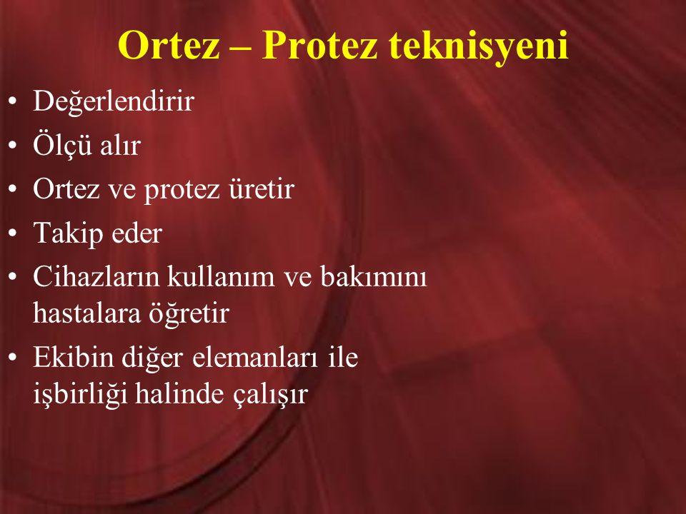 Ortez – Protez teknisyeni