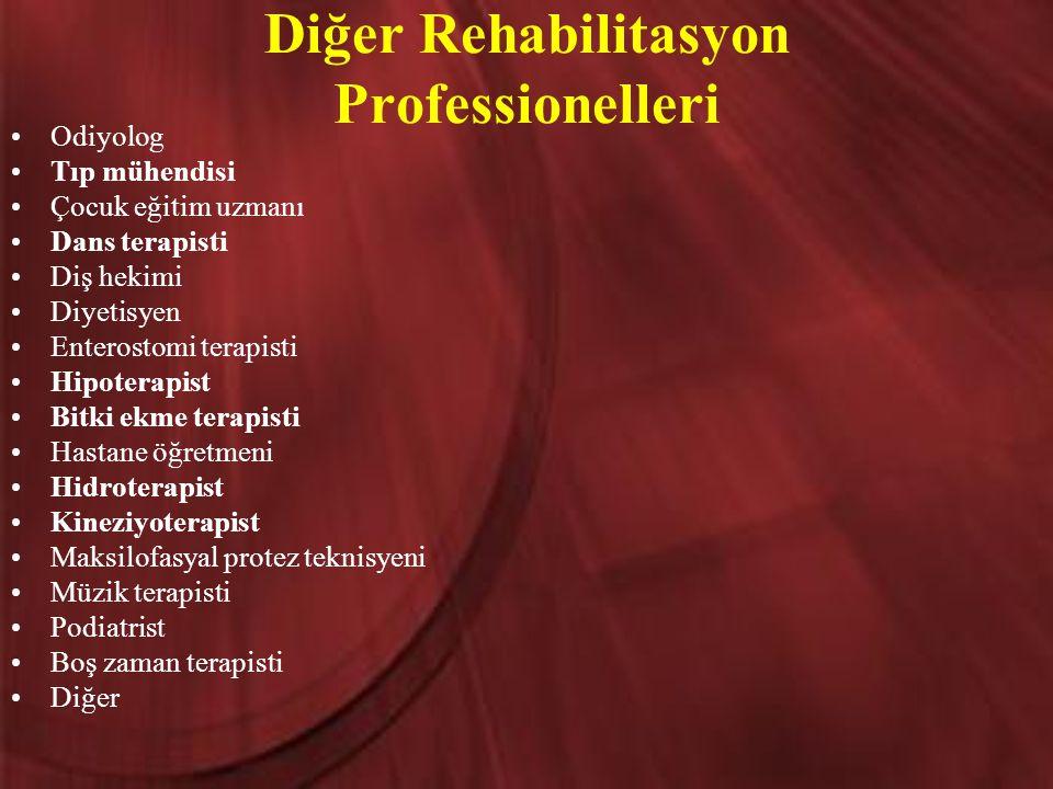 Diğer Rehabilitasyon Professionelleri