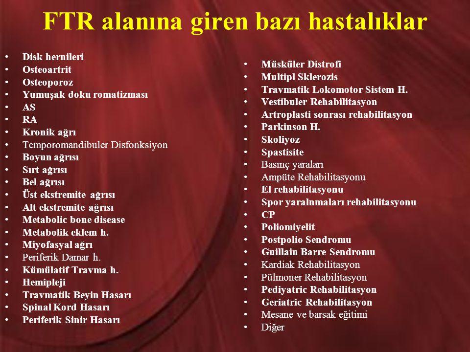 FTR alanına giren bazı hastalıklar