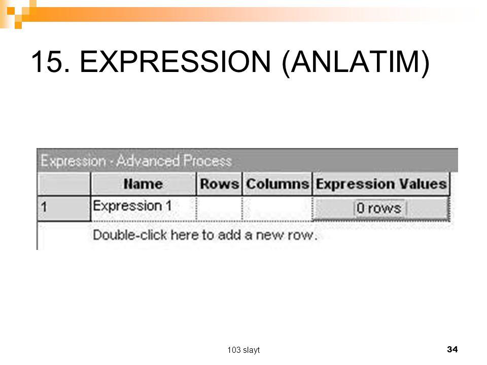 15. EXPRESSION (ANLATIM) 103 slayt
