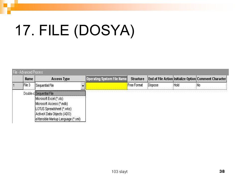 17. FILE (DOSYA) 103 slayt