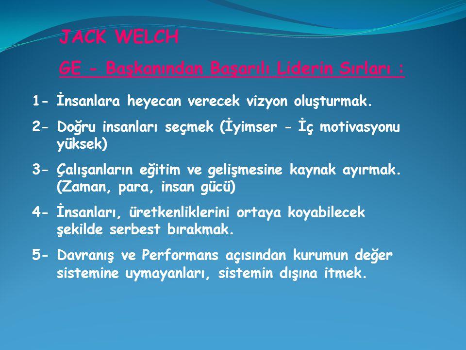 JACK WELCH GE - Başkanından Başarılı Liderin Sırları :