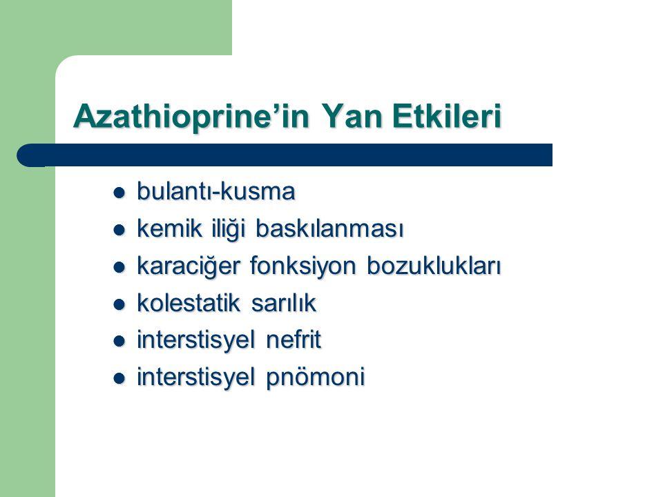 Azathioprine'in Yan Etkileri