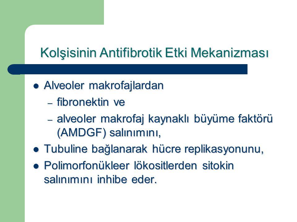 Kolşisinin Antifibrotik Etki Mekanizması