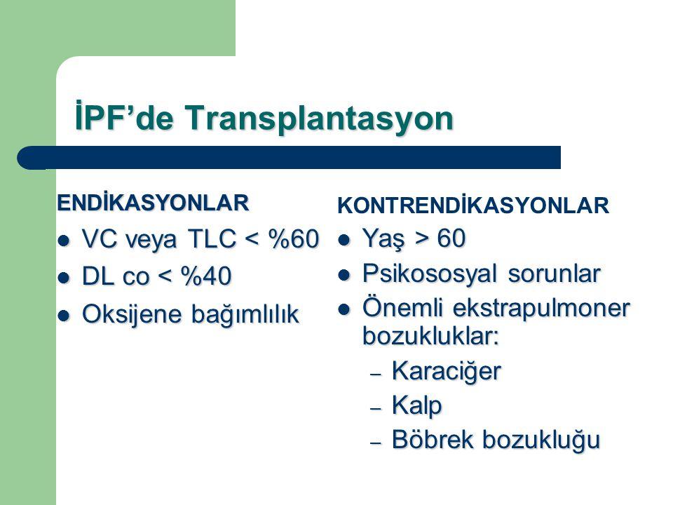 İPF'de Transplantasyon