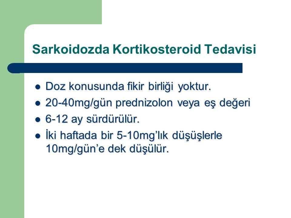 Sarkoidozda Kortikosteroid Tedavisi