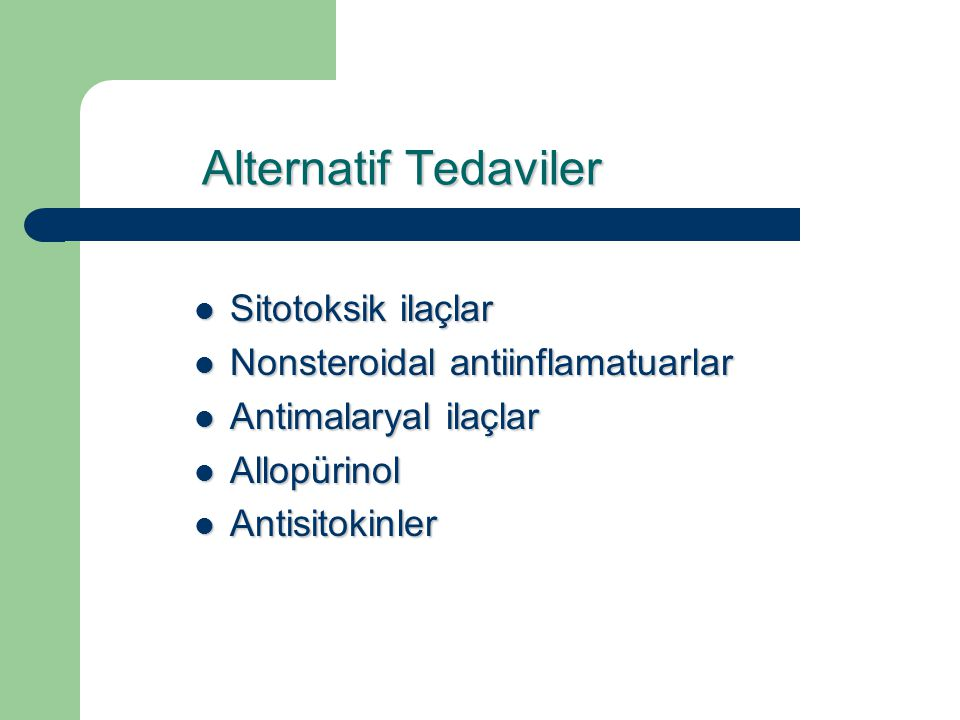 Alternatif Tedaviler Sitotoksik ilaçlar