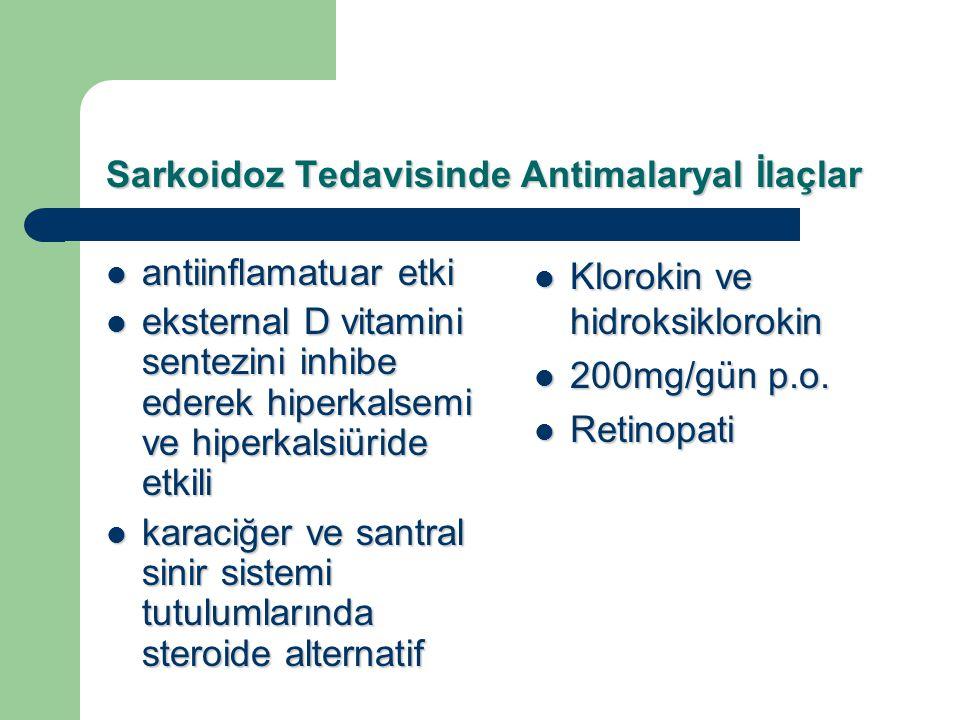 Sarkoidoz Tedavisinde Antimalaryal İlaçlar