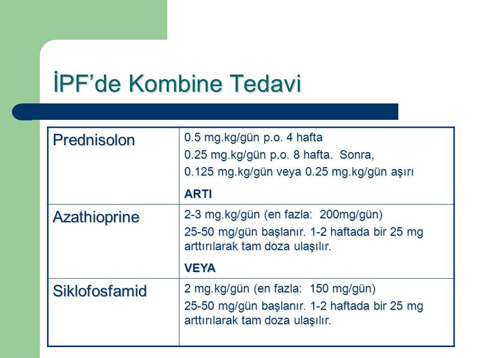 İPF'de Kombine Tedavi Prednisolon Azathioprine Siklofosfamid