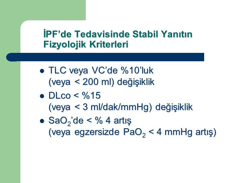 İPF'de Tedavisinde Stabil Yanıtın Fizyolojik Kriterleri