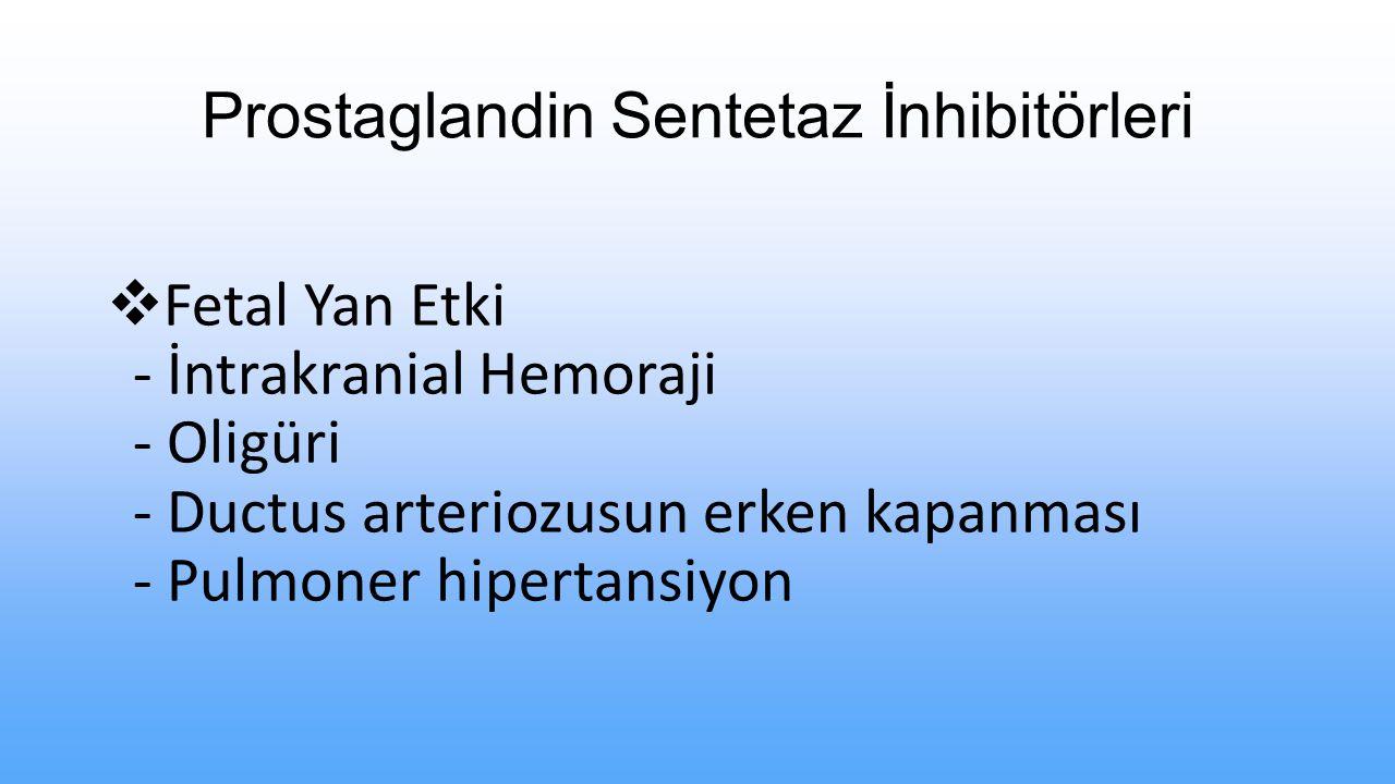 Prostaglandin Sentetaz İnhibitörleri