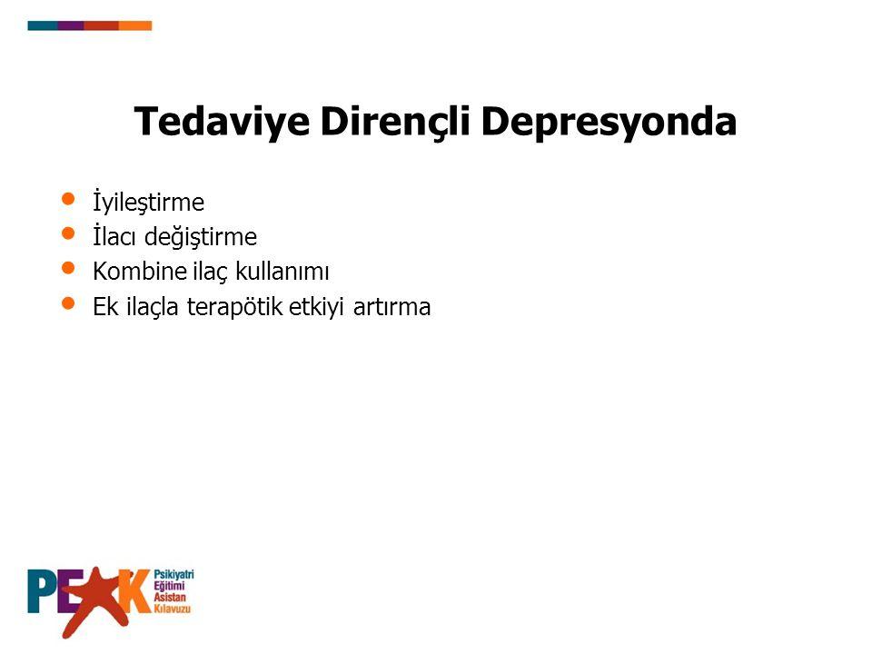 Tedaviye Dirençli Depresyonda